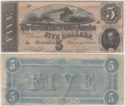 1864. $5. CCU. T-69.