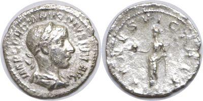 238-244 AD. Silver Denarius. XF. Gordian III.