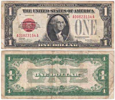 1928. $1. F-1500. FINE. Legal Tender Note.