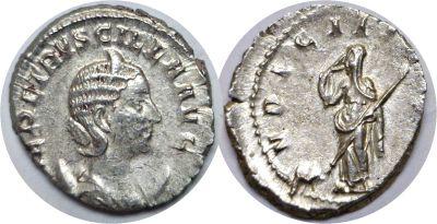 249-51 AD. Silver Antoninianus. XF. Herennia Etrus