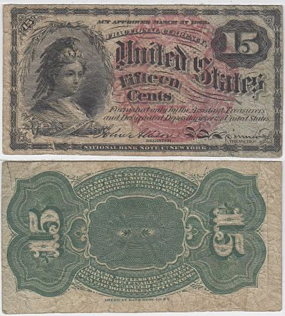 15c. 4th Issue. FINE. F-1267-1271.