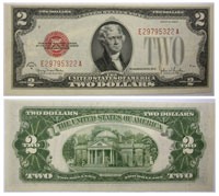 1928. $2. CCU. Legal Tender Note.