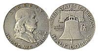 1951-D. FINE.