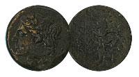 214-212 BC. Sicily, Syracuse. Bronze. FINE. Democr