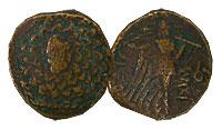 120-63 BC. Pontus. Bronze. FINE. Mithradates VI.