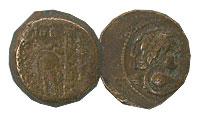 139-129 BC. Seleucid. Bronze. FINE. Antiochus VII.