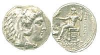 336-323 BC. Macedon. Silver Tetradrachm. VF. Alexa