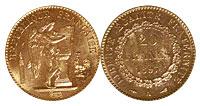 1871-1898. France. 20 Franc. Select BU.