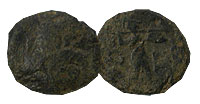 196-146 BC. Thessalian League. Bronze. FINE.