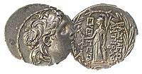 139-129 BC. Seleucid. Silver Tetradrachm. XF. Anti