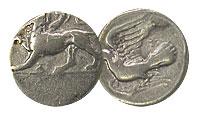 360-330 BC. Sicyon. Silver Hemidrachm. FINE.