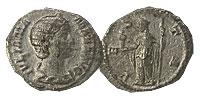 222-235 AD. Silver Denarius. XF. Julia Mamaea.