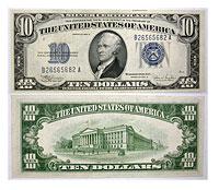 1934. $10. CCU. Silver Certificate.
