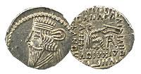 105-147 AD. Parthia. Silver Drachm. Select BU. Vol