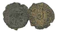 26-36 AD. Bronze Prutah. FINE. Pontius Pilate.