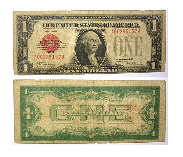 105207- 1928. $1. F-1500. VG. Legal Tender Note.