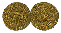 1461-1483. England. 1/4 Noble. VF.