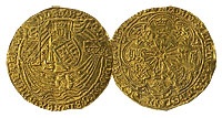 1461-1485. England. Rose Noble. XF.