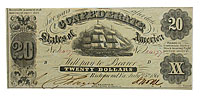 1861. $20. XF. T-9.