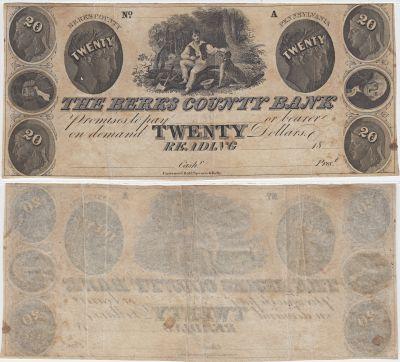 1840's. $20. VF+. PA.