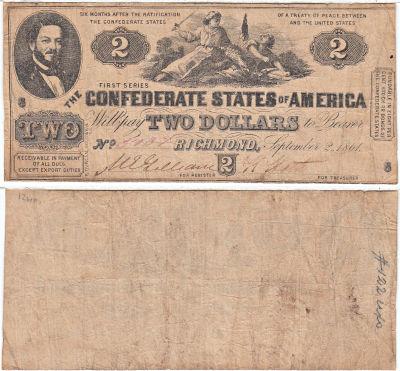 1861. $2. FINE. T-38.