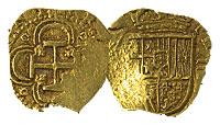 1566-1598. Spain. 2 Escudos. VF+.