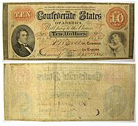 1861. $10. Fine+. T-24.