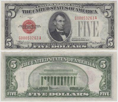 1928-C. $5. XF. Legal Tender Note.