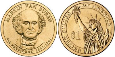 2008-D. Select BU. Martin Van Buren.