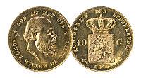 1875-1889. Netherlands. 10 Gulden. Select BU.