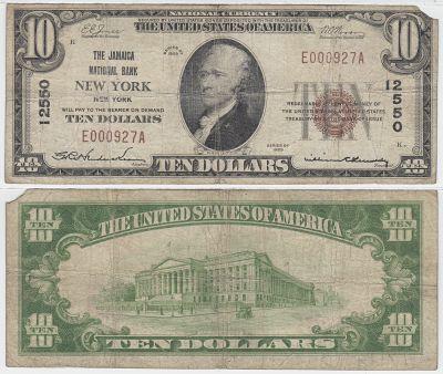 1929. $10. FINE. NY. New York. Charter 12550.