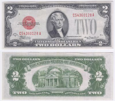 1928-D. $2. XF. Legal Tender Note.