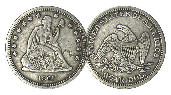 113224- (1838-1891). VF.