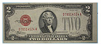 1928-F. $2. XF. Legal Tender Note.