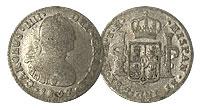 (1772-1821). Spanish-American. VG.