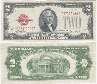 1928-G. $2. VF. Legal Tender Note.