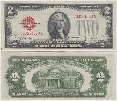 1928-G. $2. XF. Legal Tender Note.