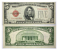 1928-F. $5. XF. Legal Tender Note.