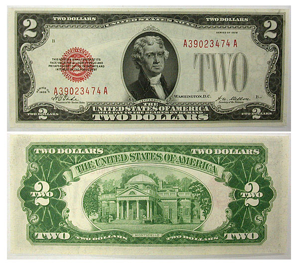 114402- 1928. $2. CCU. Legal Tender Note.