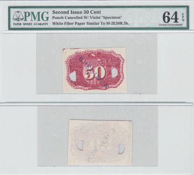 50c. 2nd Issue. PMG. Ch Unc-64. EPQ. M-2E50R.3b.