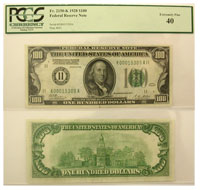 1928. $100. PCGS. XF-40. Federal Reserve Note.