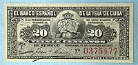 1897. Cuba. 20c. CCU.