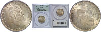 1883. Quarter. PCGS. MS-65.