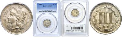 1866. PCGS. MS-63.