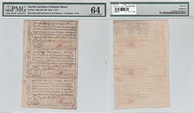 12/1771. NC. Uncut Sheet. PMG. Ch Unc-64.