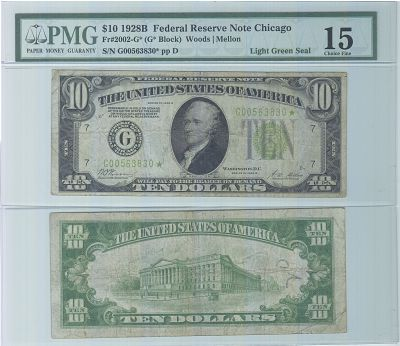 1928-B*. $10. FINE. Federal Reserve Note.