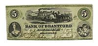1859. Canada. $5. AU.