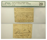 12/1768. NC. Forty Shillings. PMG. VF-20.