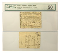 12/1768. NC. PMG. AU-50.