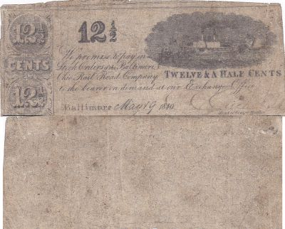 1840. 12 1/2. VG. MD.